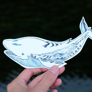 Whale / big stickers water repellent / optional three free shipping
