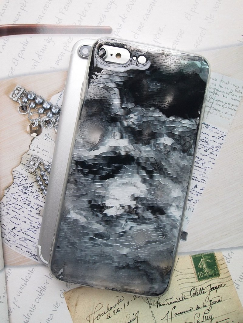 big sale 3bc95 a106d Handmade phone case, Resin with Pearl pigments, abstract