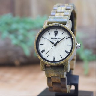 EINBAND Reise Green sandalwood 32mm Wooden Watch