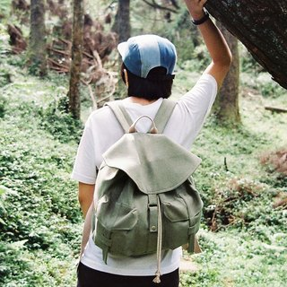 Journey micro suede backpack / moss green