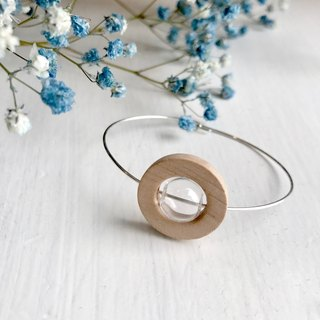 。Wooden ring。 glass。14Kgold。Silver bracelet。