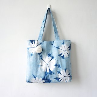 S.A x Spring, Indigo dyed Handmade Natural Pattern Hand Bag