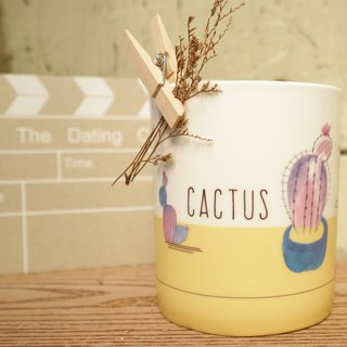 Who Says Cactus Doesn't Know Romance - Bone China Mug / Cactus / Romance / Just Yours / Confessions / Gifts / Can Buy Custom Names / Microwave / by SGS