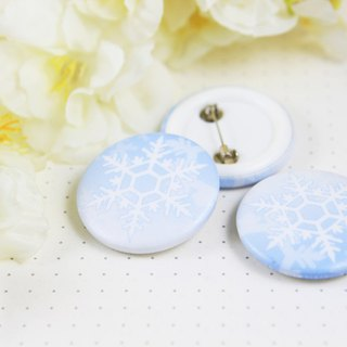 Winter Cold Crisp 32mm Badge