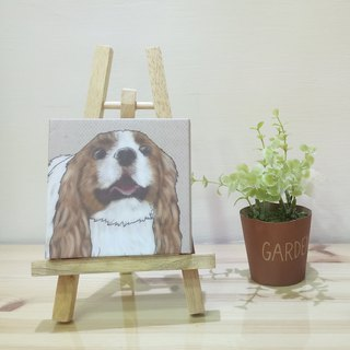 Small picture frame - lightweight frameless painting - Charles King Beagle
