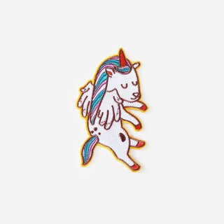 Floating Unicorn Iron On Patch, Cute Embroidery Patch