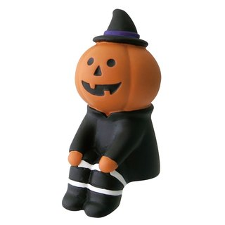 [Japan Decole] concombre Halloween limited edition ornaments - sitting pumpkin man