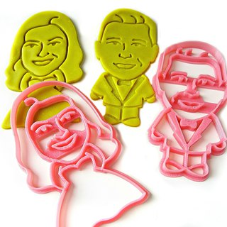Custom Bride & Groom Full-body Portrait Cookie Cutters-2 pcs Set. Weddings