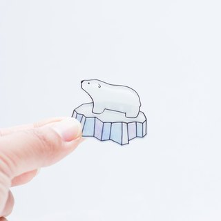 Polar bear pin brooch accessories gift