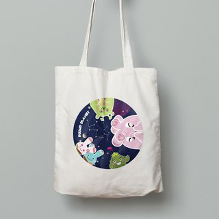 【Plump Planet Friends】Tote bag | Galaxy Planet