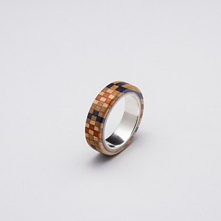 Send wood style ring R0406002