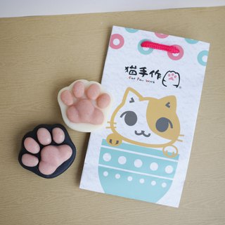 Hand in Hand Cat Paw Soap Set