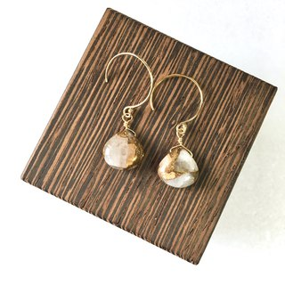 Calcite hook - earring 14 kgf SV 925