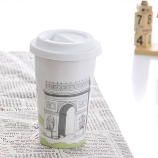 JB Design I am not a paper cup ~ city style series double ceramic cup _ French Kai Xuan door