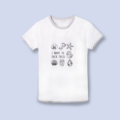 Gray / white T-SHIRT / everyone is a designer parents installed