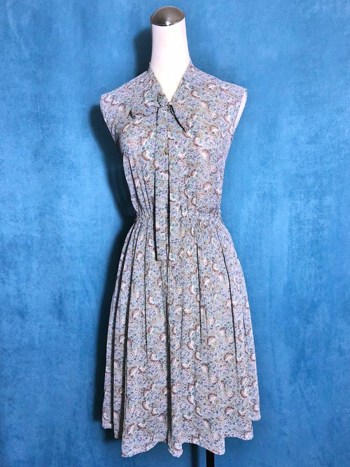 Classic Totem Textured Sleeveless Vintage Dress / Overseas Bring Back VINTAGE