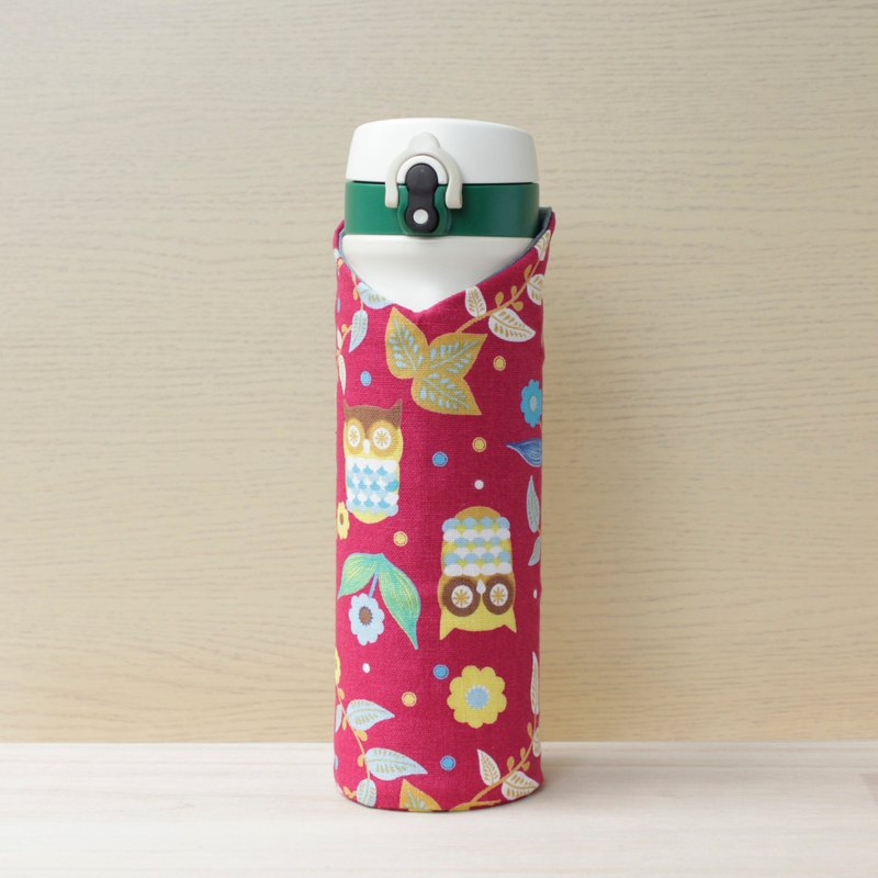 adoubao-portable bottle sets thermos bottle sets kettle - pink & owl