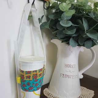 Handmade Nordic flower style eco-friendly beverage bag