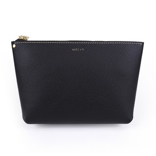 [Saffiano]|Cosmetic Pouch [L]|Zipper Toiletry Makeup Bag