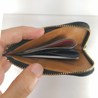 Elegant L-shaped zipper short clip coin purse wallet pay guest lettering service