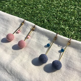 Hanging small ball ear clip earrings
