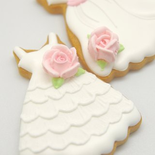 White wedding cookies (20) white wedding dress new wedding small sugar cookie was TFD