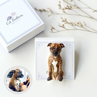 Custom dog portraits brooch - Full body, Custom dog brooch, personalized dog