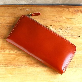 Leather Wallet - X1 - Tan (Genuine Cow Leather)/Mobile Phone Bag / Long Wallet