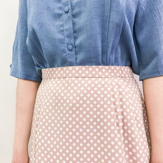 …{DOTTORI :: BOTTOM}Baby Pink Skirt with White Dots