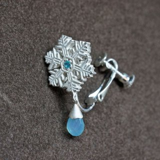 [Hhleemay exclusively] ❄ winter limited ❄ snow crystal earrings (SBC) semi-order
