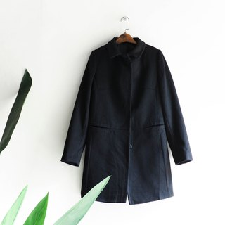 River water mountain - ANCONA Gifu pure black elegance winter girl sheep antique fur coat wool fur vintage wool vintage overcoat