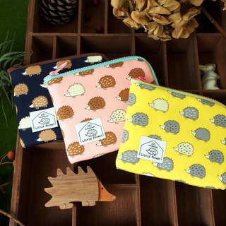 Ticket card coin purse <Hedgehog yellow section>