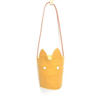 Rabbit ears green cup cover - yellow