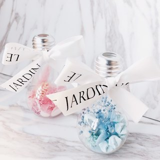 """Le Jardin"" dried flower bulb ornaments hand origami lucky stars / Valentine's Day birthday gift"