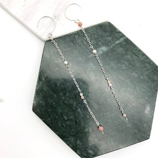 Pearls 925 Silver Earrings 【Christmas Gift】【Wedding Earrings】【Pink opals】