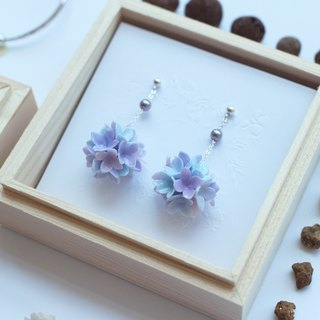 Hydrangea Sterling Silver Earrings