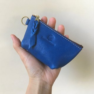 JAPAN Leather Nume leather mini pouch barco regatta-blue