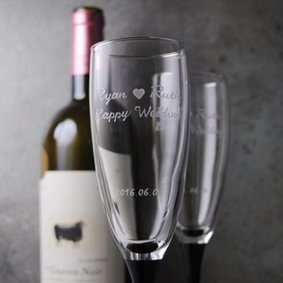 (One pair price) 170cc [Je t'aime French champagne for wedding champagne Cup 'Black Swan Valentine's Day wedding gift