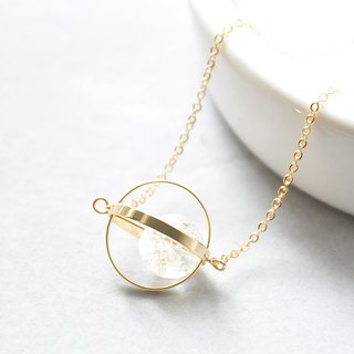 Pure Planet. universe. Golden Circle. White crystal. Necklace Pure Planet. Galaxy. Golden Ring. White Crystal. Necklace. birthday present. Girlfriend gift. Sister gift