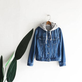 Shimane hooded zipper buckle Sunday fun antique cotton denim shirt jacket coat vintage