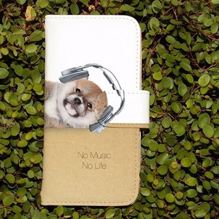 【All models compatible】 Free shipping 【notebook type】 Shiba puppy even No Music No Life smart case