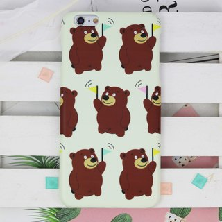 Stupid Teddy Bear Matt hard phone case iPhone X 8 8 plus 7 7+ Samsung Note S8 S7
