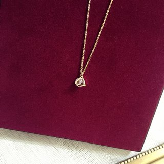 Triangle Zircon Necklace
