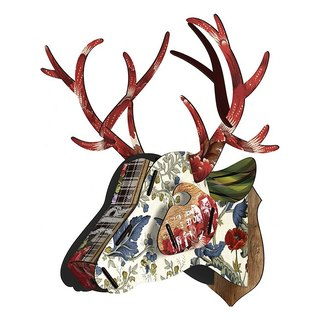 SUSS-Italian MIHO wooden deer head high quality home decoration / wall decoration - extra large size (Big-63)