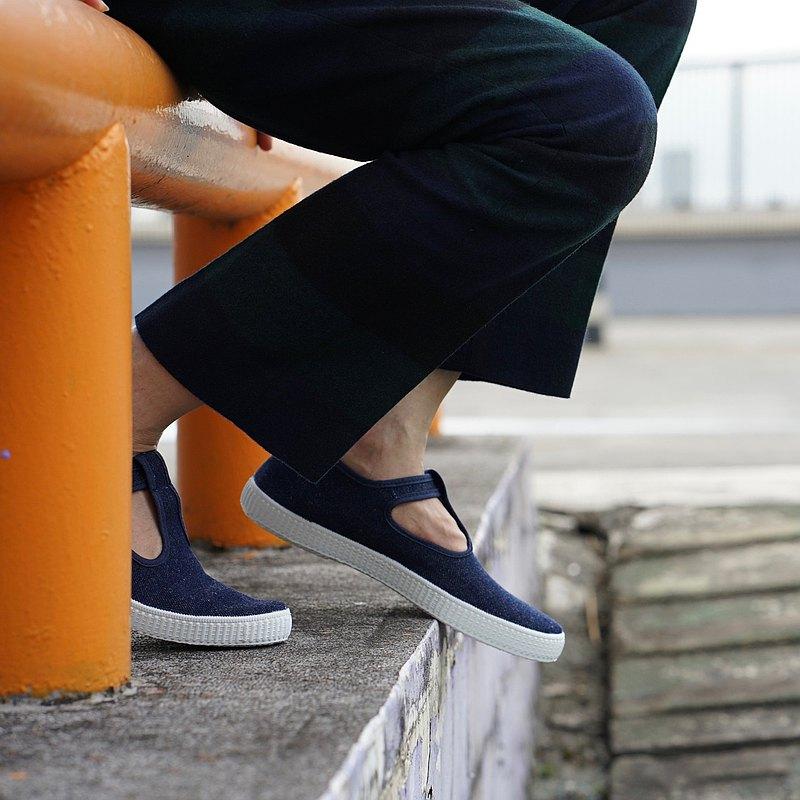 西班牙國民帆布鞋 CIENTA 51000 31 牛仔藍 經典布料 大人 T字款