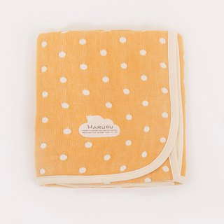 MARURU Luxurious Six-layer gauze baby blanket  (S) Yellow dot