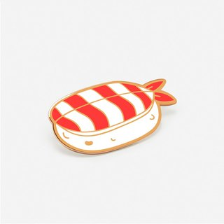 Shrimp Sushi Hat/ Enamel Pin