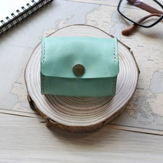 Leather wallet lake water green wallet leather