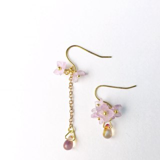 Hydrangea Earrings in Violet