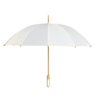 Bamboo language | classic white handmade bamboo long handle umbrella, red dot IF award